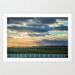 Pickett Fence Sunset Art Print
