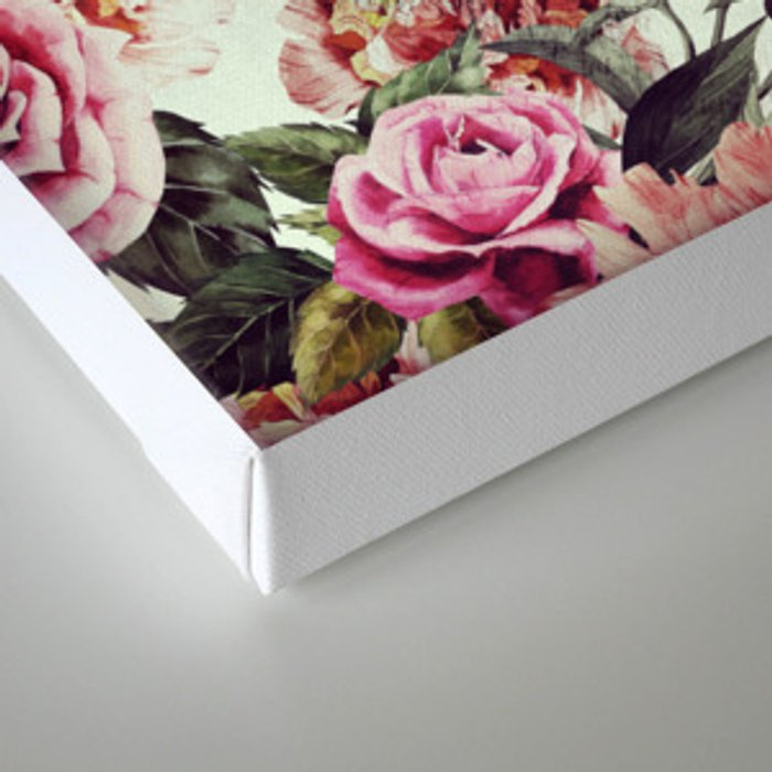 Floral Wolf Canvas Print