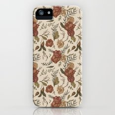 Antique Floral Pattern Slim Case iPhone (5, 5s)