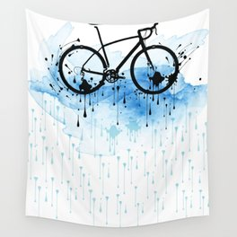 watercolor bicycle Wall Tapestry