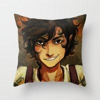 viria Throw Pillows featuring Leo by viria