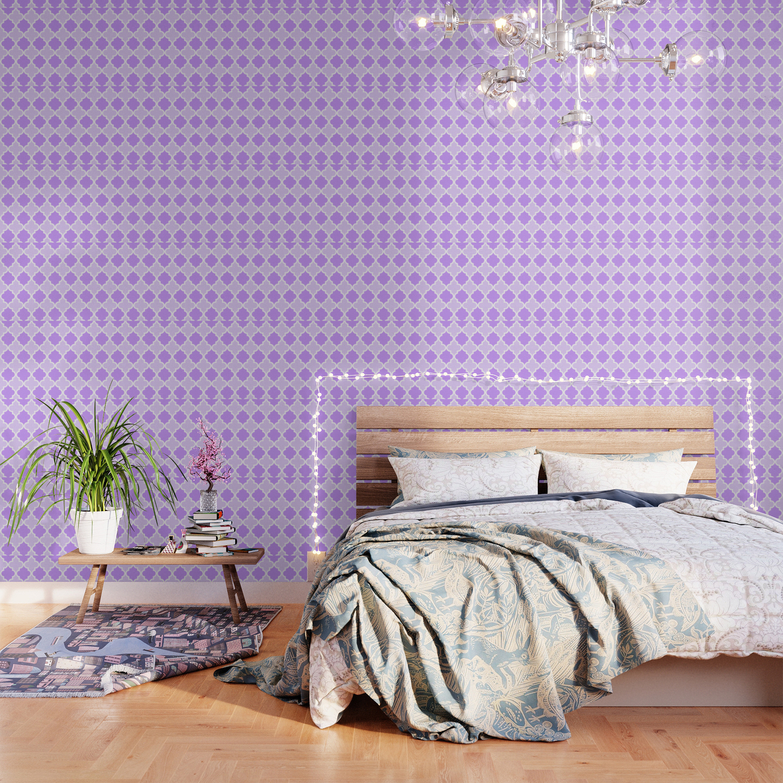 Quatrefoil Light Purple Dual Tone Wallpaper By Peppermintcreek