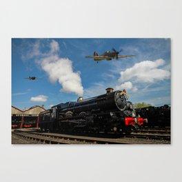 Hurricane and Steam Train Canvas Print