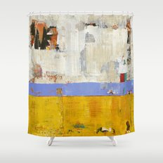 Amenity Abstract Landscape Yellow Modern Shawn McNulty Shower Curtain