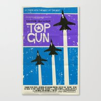 top gun Canvas Prints featuring Top Gun by Mark Welser