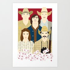 The Country Of Living Dangerously (Faces & Movies) Art Print