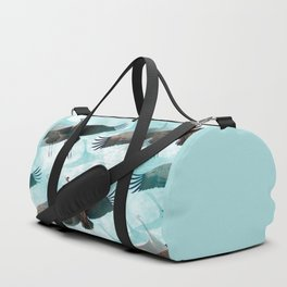 Abstract Whooping Cranes Duffle Bag