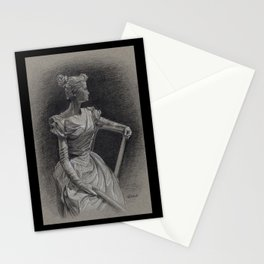 Sitting Lady, Dame Assise, Paul du Bois, Bruxelles Stationery Cards