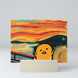 Gudetama's Scream Mini Art Print