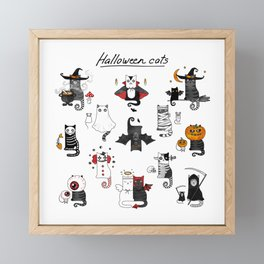 Halloween Cats In Terrible Imagery Framed Mini Art Print