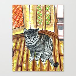 Willow Kitty Canvas Print