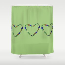 And the Greatest of These is Love #heart #seaglasssmiles Shower Curtain