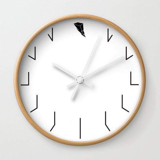 Redundant Clock w/ ShockBlast Flash Symbol Logo by shopblast