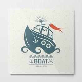 Brave small boat print Metal Print