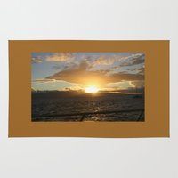 hawaiian Area & Throw Rugs featuring Hawaiian Sunset by Katherine Farah
