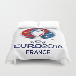 Logo Uefa Euro 2016 Duvet Cover