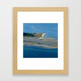 Island Flyover Framed Art Print