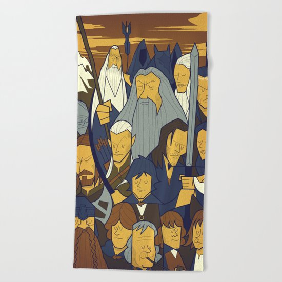The Fellowship of the Ring Beach Towel