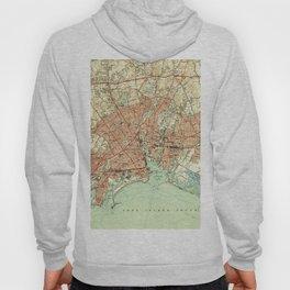 Vintage Map of Bridgeport Connecticut (1951) 2 Hoody