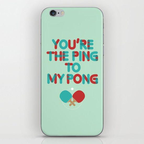 Love is like ping pong iPhone & iPod Skin