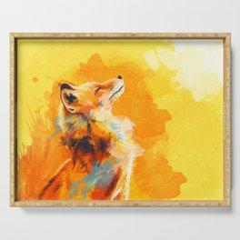 Blissful Light - Fox portrait Serving Tray