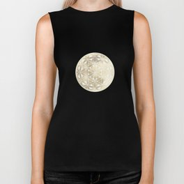 The Flower of Life Moon 2 Biker Tank