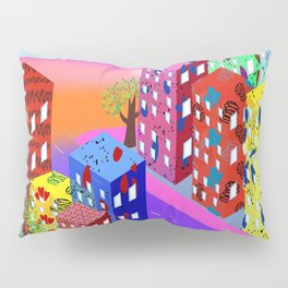 Abstract Urban By Day Pillow Sham