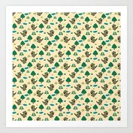 Moccomerian pattern Art Print