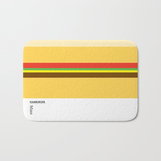 Pantone Food - Hamburger Bath Mat