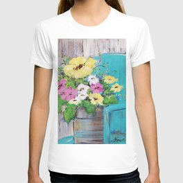 Spring Floral on Vintage Lawn Chair T-shirt