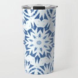 Snowflake Denim & White Travel Mug