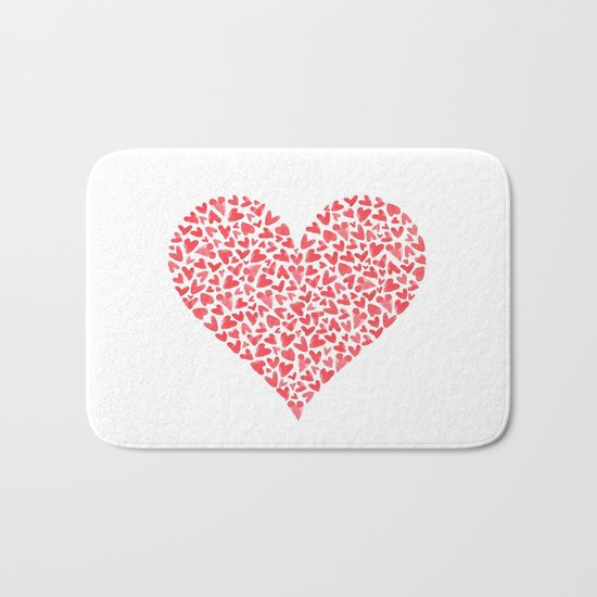 Heart Within  Bath Mat