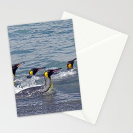 Swimming King Penguins Stationery Cards