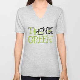Think Green - Elphaba - Wicked Unisex V-Neck