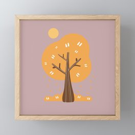 Morning Forest in Autumn Framed Mini Art Print
