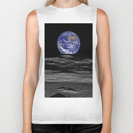 Earth Rising over the Horizon of the Moon Biker Tank