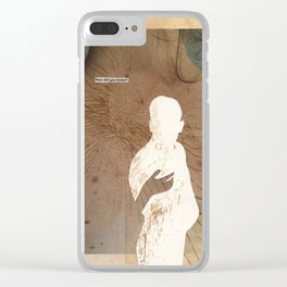how do I tell him I cared for him so very dearly? Clear iPhone Case