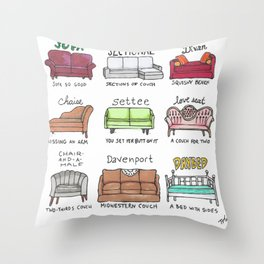 Know Your Couches: A Visual Guide Throw Pillow