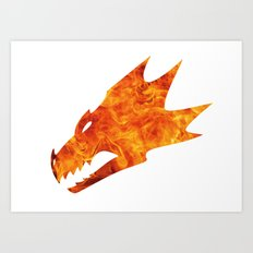 Burning Salamander Art Print