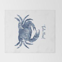 Crab Tide Pool habitat Throw Blanket