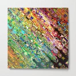 Colorful Glass Abstract Metal Print