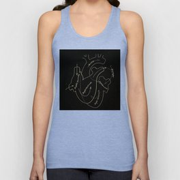 Black heart Unisex Tank Top