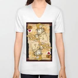 'Mad Hatter' (Alice in Steampunk Series) Unisex V-Neck