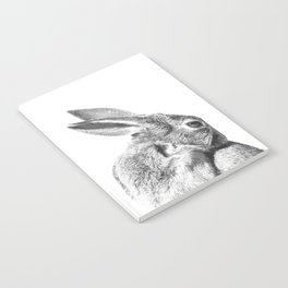 Black and white rabbit Notebook
