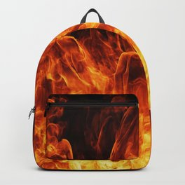 Orange flame Backpack