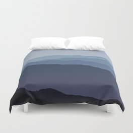 Misty Mountain Blue Duvet Cover
