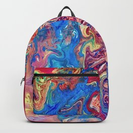 Go with the Flow, Abstract Fluid Acrylic Pour  Backpack