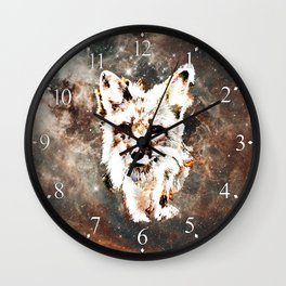 Space Fox no4 Wall Clock