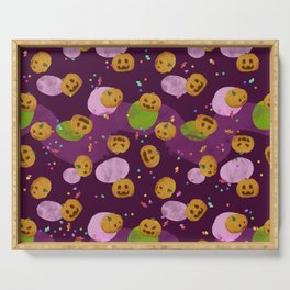 Pumpkins and candies pattern Serving Tray