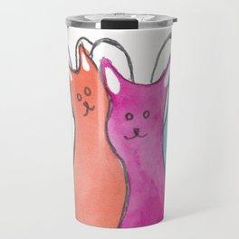 Three Angel Cats Travel Mug